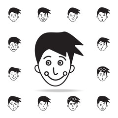 mischief on the face icon. Detailed set of facial emotions icons. Premium graphic design. One of the collection icons for websites, web design, mobile app