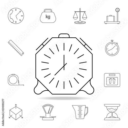 alarm clock icon  Detailed set of measuring instruments