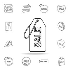sale tag icon. Detailed set of clearance sale icons. Premium graphic design. One of the collection icons for websites, web design, mobile app