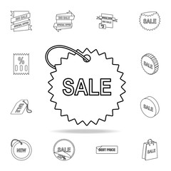 tag with the word sale icon. Detailed set of clearance sale icons. Premium graphic design. One of the collection icons for websites, web design, mobile app