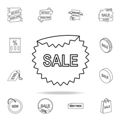 sellout sticker icon. Detailed set of clearance sale icons. Premium graphic design. One of the collection icons for websites, web design, mobile app