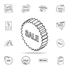 3d sale sign icon. Detailed set of clearance sale icons. Premium graphic design. One of the collection icons for websites, web design, mobile app