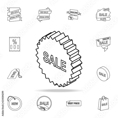 3d Sale Sign Icon Detailed Set Of Clearance Sale Icons Premium