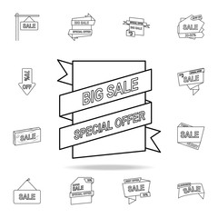 sales label icon. Detailed set of clearance sale icons. Premium graphic design. One of the collection icons for websites, web design, mobile app