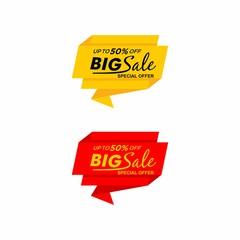Sale banner template design, Big sale special, shop