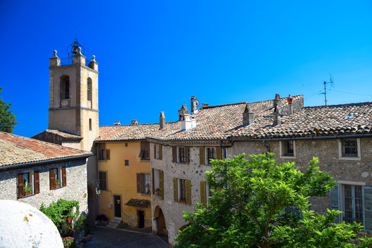 Architecture and street scenes from the medieval village of Cagnes-Sur-Mer on the Cote D'Azur, France