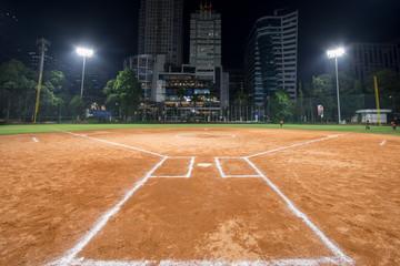 Sofball field located in Jakarta, Indonesia