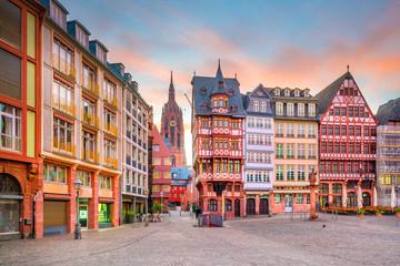 Frankfurt Old town square romerberg at twilight Wall mural