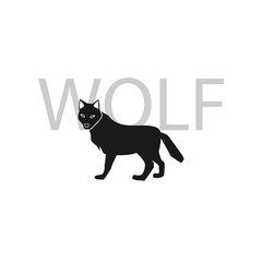 wolf simple icon.