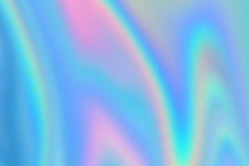 Colorful blurred abstract digital background. Holographic iridescent effect image. Rainbow texture.