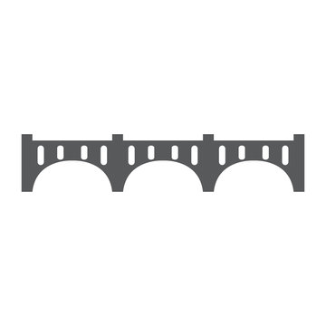 Isolated bridge structure image. Vector illustration design