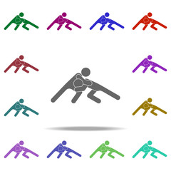 fight icon. Elements of Sport in multi color style icons. Simple icon for websites, web design, mobile app, info graphics