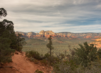 Majestic Sedona landscape off Devils Bridge trail.