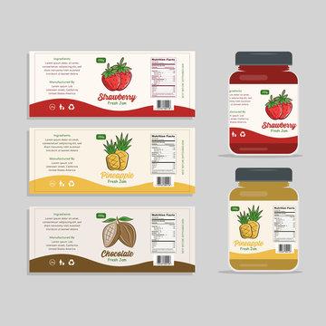 Jam Label Packaging Design