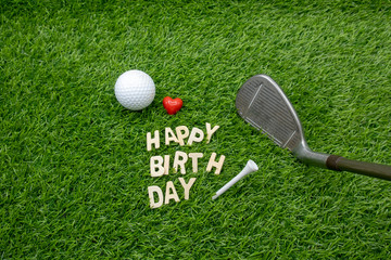 Happy Birdie Happy Birthday to golfer