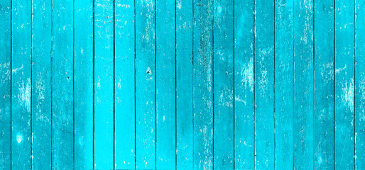 Vintage blue color painted wood wall as background or texture, Natural pattern. Blank copy space.