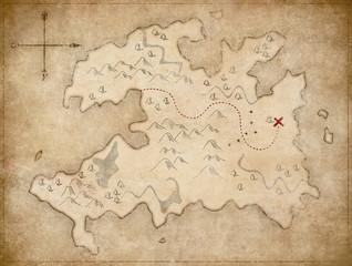 treasure pirates' old map