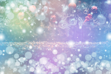 christmas background, xmas decoration and winter concept