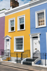 Fototapete - Colorful terraced houses seen in Notting Hill, London