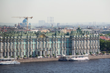 Facade of the Winter Palace, Saint Petersburg, Russia