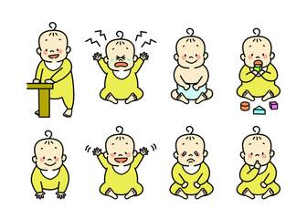 赤ちゃんの様々な表情
