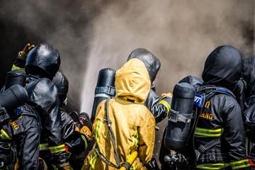 Poster Xian Firefighter training
