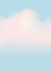 Cloudscape light blue sky white clouds, vector, isolated, template for baner, background, poster