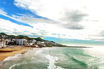 Sitges panoramic seaside view