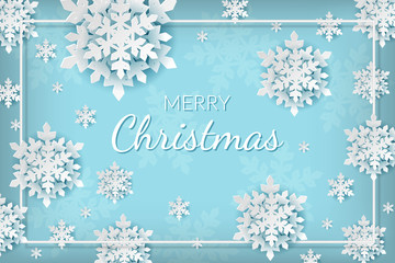 christmas background with snowflakes and place for your text