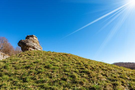 Limestone Monolith - Karst Erosion Formation Lessinia Italy
