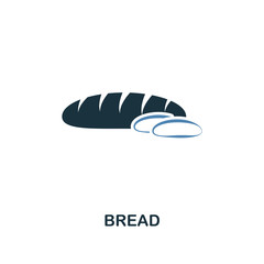 Bread icon. Two colors design style from meal icons collection. Simple illustration of bread icon.