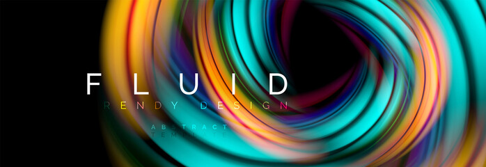 Flowing glowing color motion concept, trendy abstract layout template for business or technology presentation or web brochure cover, wallpaper