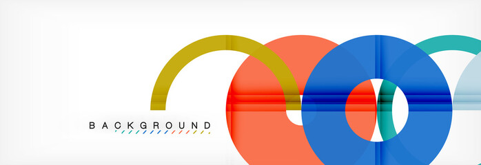 Geomtric modern backgrounds, rings abstract template