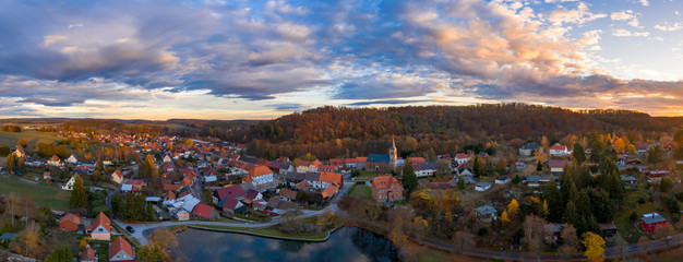 Luftbildaufnahme von Güntersberge im Harz