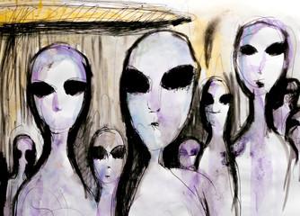 Aliens painting