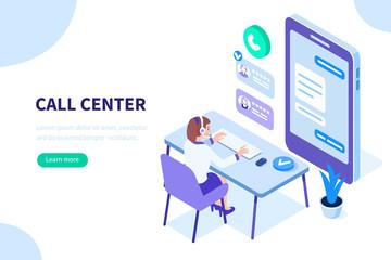 call center Fototapete