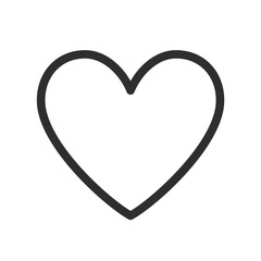 Heart Icon. Vector Line.
