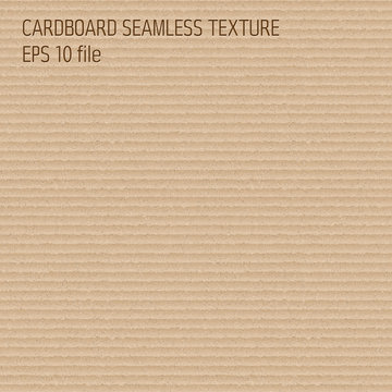 Cardboard seamless pattern - endless background with brown carton