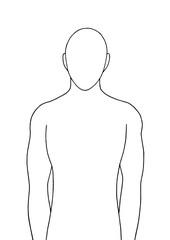 human standing vector illustration design hand drawing