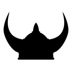 Viking helmet icon black color illustration