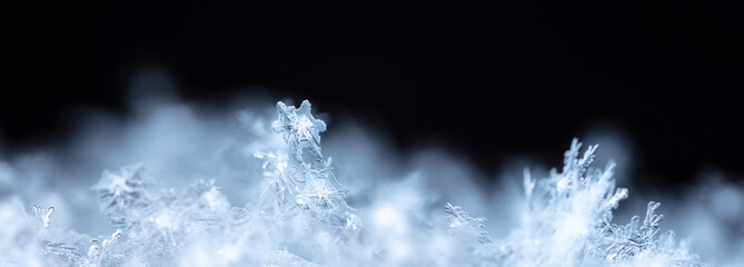 snowflake on snow, snow
