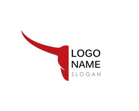 Bull head logo vector icon illustration design