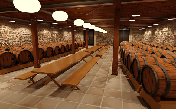 3D Rendering Wine Hall