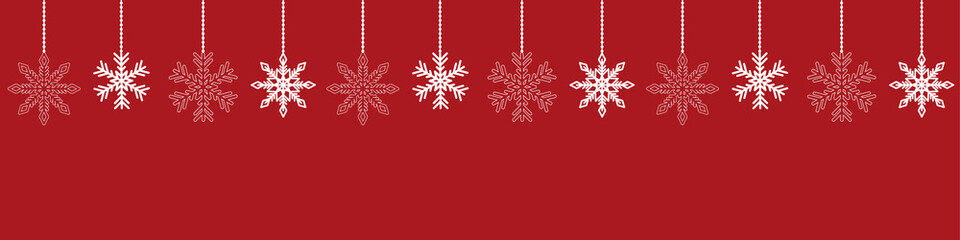 red background with snowflake christmas decoration vector illustration EPS10