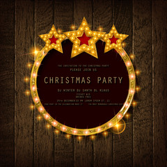 Invitation merry christmas party poster