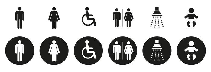 Obraz Sanitär Symbole - fototapety do salonu