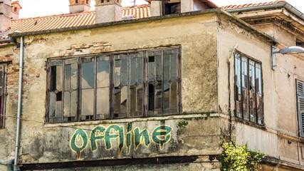 Fototapete - Schild 400 - Offline