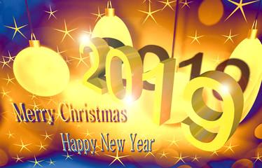 Illustrazione Felice anno nuovo per biglietti di auguri