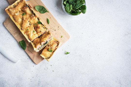 Salmon fish pie (tart)