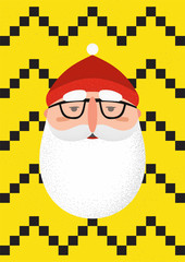 Bearded hipster Santa Claus